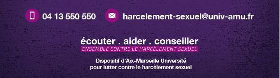Dispositif d'Aix-Marseille Université pour lutter contre le harcèlement sexuel, les violences sexistes et sexuelles