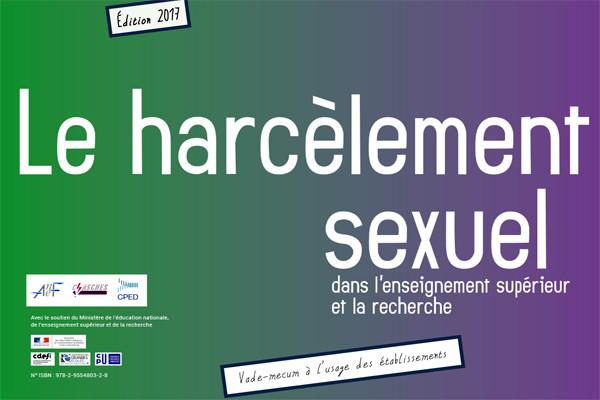 Affiche du vade-mecum à l'usage des établissements sur le harcèlement