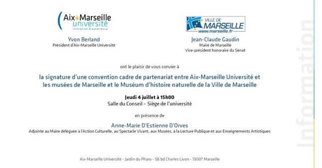 Signature convention musées muséum marseille