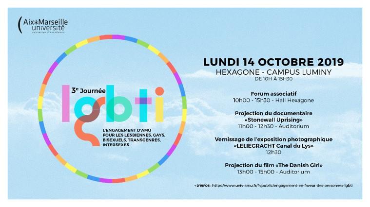 Affiche journée LGBTI Hexagone 14 octobre 2019