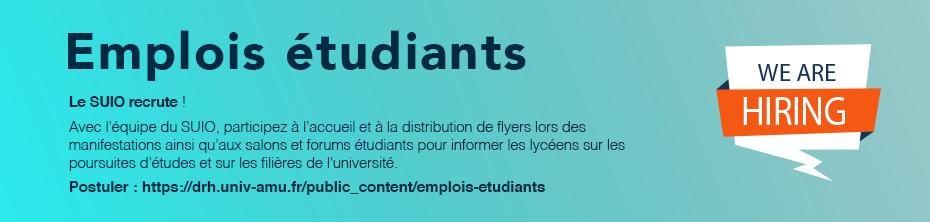 Emplois étudiants AMU